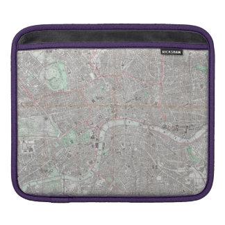 Funda Para iPad Mapa del vintage de la ciudad de Londres