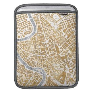 Funda Para iPad Mapa dorado de la ciudad de Roma