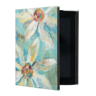 Funda Para iPad Margaritas blancas en azul