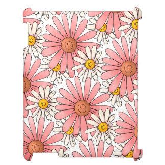 Funda Para iPad Margaritas rosadas y margaritas blancas