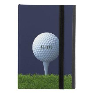 Funda Para iPad Mini 4 Monograma Golfing de la pelota de golf del papá