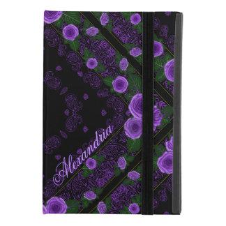 Funda Para iPad Mini 4 Rosas de la frambuesa y plantilla conocida del