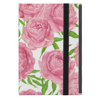 Funda Para iPad Mini Acuarela rosada de los peonies