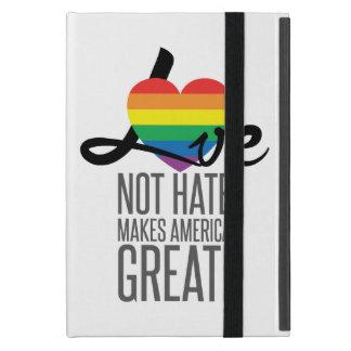 Funda Para iPad Mini Ame no el caso del iPad del odio (arco iris)