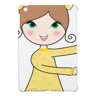 Funda Para iPad Mini Arte del dibujo animado del chica de dos peinados