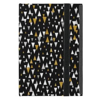 Funda Para iPad Mini Arte moderno del triángulo - oro negro