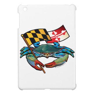 Funda Para iPad Mini Bandera de Maryland del cangrejo azul