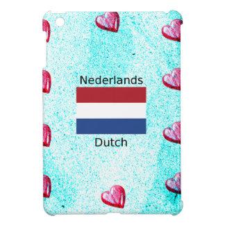 Funda Para iPad Mini Bandera holandesa y diseño holandés de la lengua