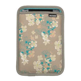 Funda Para iPad Mini Beige y verde azulado florales