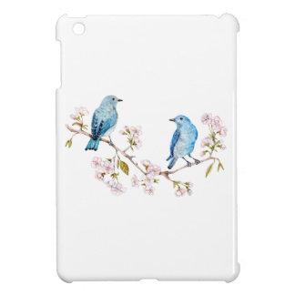 Funda Para iPad Mini Bluebirds de la montaña en la rama de Sakura