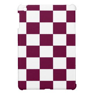 Funda Para iPad Mini Borgoña y tableros de damas blancos