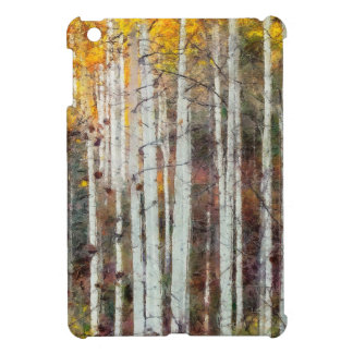 Funda Para iPad Mini Bosque brumoso del abedul