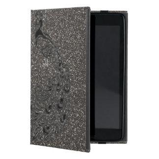 Funda Para iPad Mini Caja gris femenina elegante del iPad del pavo real