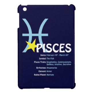 Funda Para iPad Mini Caja oscura del iPad de los rasgos de Piscis