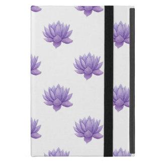 Funda Para iPad Mini Caja suculenta de la acuarela púrpura