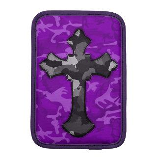 Funda Para iPad Mini Camo púrpura con la cruz