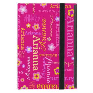 Funda Para iPad Mini Caso conocido del amarillo del rosa de la flor del