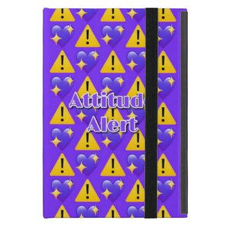 Funda Para iPad Mini Caso del iPad (púrpura) alerta de la actitud mini
