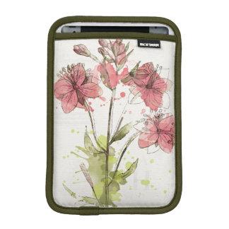 Funda Para iPad Mini Chapoteo rosado oscuro floral