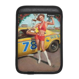 Funda Para iPad Mini Chica modelo del vintage del trofeo del coche de