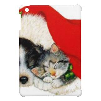 Funda Para iPad Mini christmas_cat_dog_hat