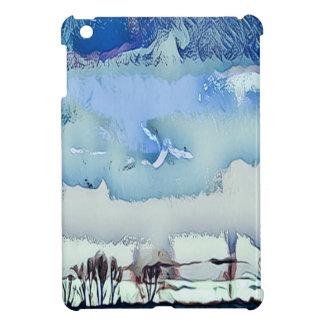 Funda Para iPad Mini Cielo abstracto azul del horizonte del invierno