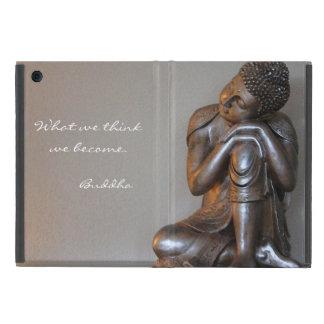 Funda Para iPad Mini Ciérrese para arriba de Buda de plata pacífico