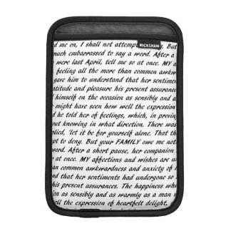 Funda Para iPad Mini Citas de Jane Austen de doble cara