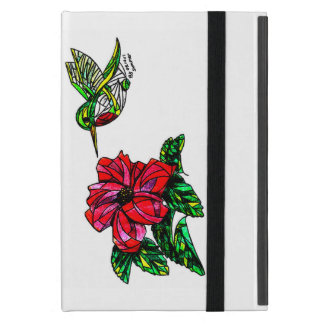 Funda Para iPad Mini Colibrí con caso de IPad del hibisco el mini