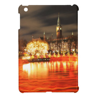 Funda Para iPad Mini Copenhague, Dinamarca en el navidad