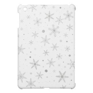 Funda Para iPad Mini Copo de nieve del centelleo - gris y Blanco de