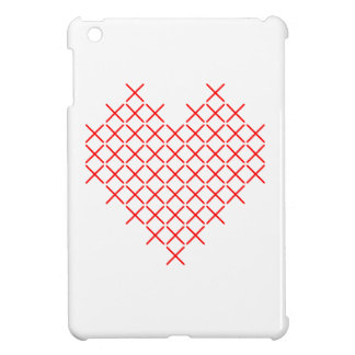 Funda Para iPad Mini Corazón de la puntada de la Cruz Roja
