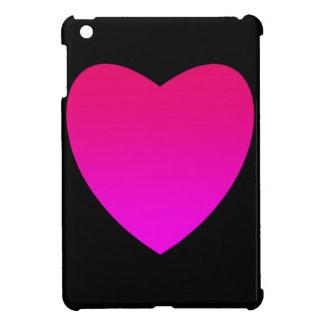 Funda Para iPad Mini Corazón rosado brillante en negro