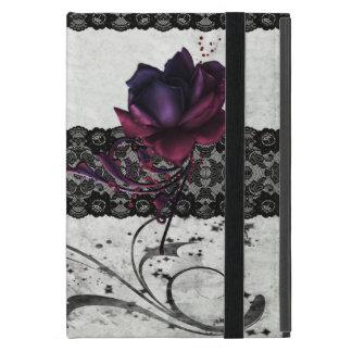 Funda Para iPad Mini Cordón color de rosa y negro gótico