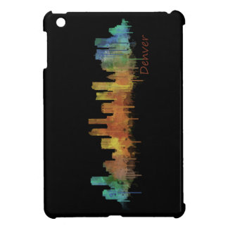 Funda Para iPad Mini Dark Denver Colorado City Watercolor Skyline Hq v2