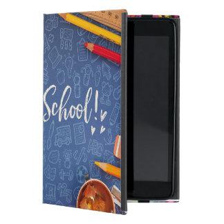 Funda Para iPad Mini De nuevo a tiza de la escuela e inmóvil