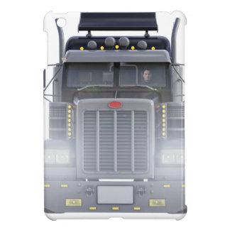 Funda Para iPad Mini Del negro camión del tractor remolque semi con las