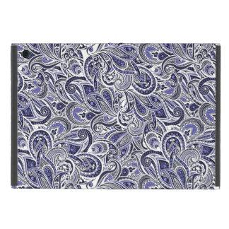Funda Para iPad Mini Diseño blanco azul lindo de los modelos de Paisley