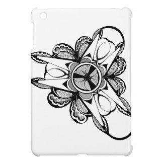 Funda Para iPad Mini Diseño negro y blanco en el mini caso brillante