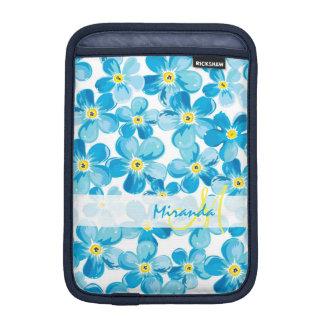 Funda Para iPad Mini El azul vibrante de la acuarela me olvida no