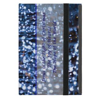 Funda Para iPad Mini El extracto del azul enciende el texto
