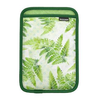 Funda Para iPad Mini El helecho verde sale de la acuarela botánica