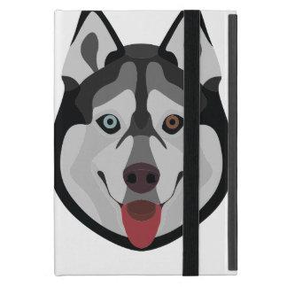 Funda Para iPad Mini El ilustracion persigue el husky siberiano de la
