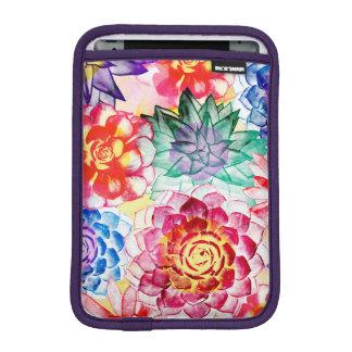 Funda Para iPad Mini El Succulent colorido planta la acuarela linda