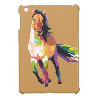 Funda Para iPad Mini Equestrian corriente colorido del semental del