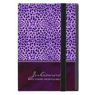 Funda Para iPad Mini Estampado de animales púrpura rico del guepardo