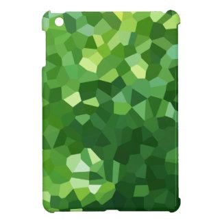 Funda Para iPad Mini Extracto verde del mosaico del vitral de la forma