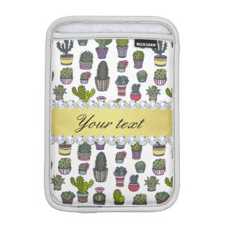 Funda Para iPad Mini Falsos diamantes de Bling del oro del cactus