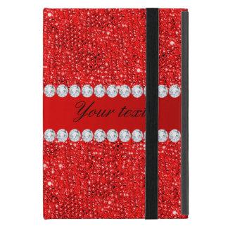Funda Para iPad Mini Falsos lentejuelas y diamantes rojos atractivos