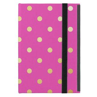 Funda Para iPad Mini falsos lunares elegantes del rosa del oro